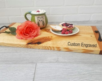 5th Anniversary Gift Wife, Daughter In Law Gift, Custom Personalized, Birthday Girlfriend, Sister In Law, Wooden Serving Tray