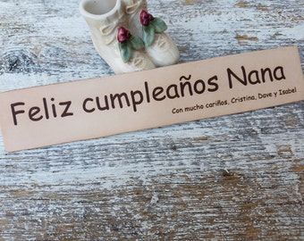 Custom Engraved Leather Bookmark, Birthday Gift For Bookworm, Personalized Gift Kids, Foreign Language