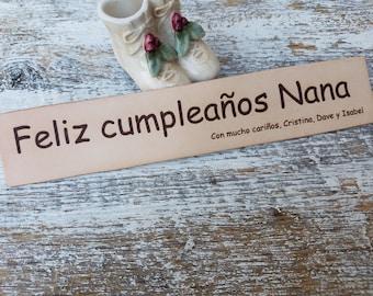 Native Language Custom Engraved Leather Bookmark,  Gift Boxed