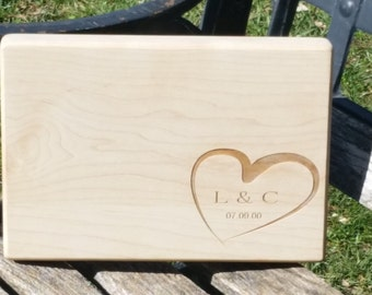 5th Anniversary Gift, Engraved Cutting Board