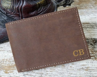 3rd Anniversary Gift  Husband, Engraved Genuine Leather Wallet, Guy Valentines  Gift, Birthday Gift
