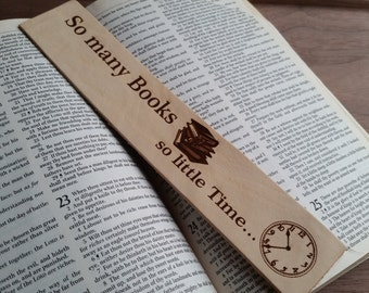 Gift For Librarians,   Bookworm Gift, Engraved Leather Bookmark, College Student, Book Lover Gift