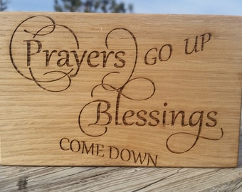 Religious Wall Art, Engraved Plaque, Inspirational  Birthday Gift