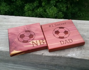 Birthday Gift Soccer Dad, Personalized Coasters, 2