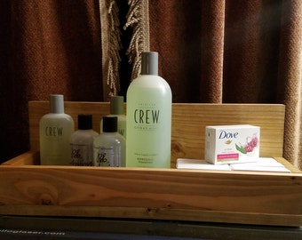 At Home Spa  Wood Spa Caddy, Custom Made, Master Bathroom Decor, Wall Decor