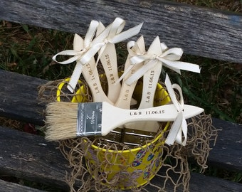 Beach Brushes, Bridal Shower, Bachelorette Party, 5 Brushes