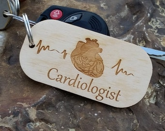 Cardiologist Personalized Key Chain, Gift For Doctor