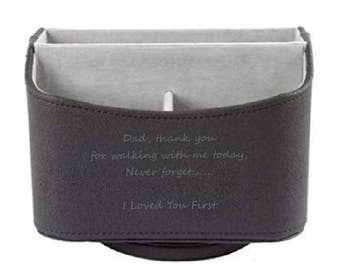 Father of the Bride Gift, Custom Engraved Remote Caddy, Gift Wrapped