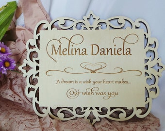 Baby Shower Gift, Name Plaque,  Nursery Decor, Personalized Rustic Nursery