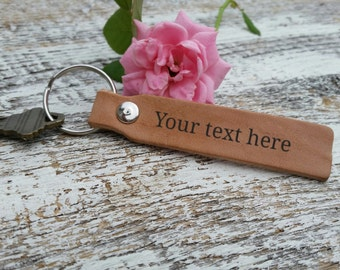 Custom Leather Engraved Key Chain, Birthday Gift, Christmas Gift, Anniversary Gift, Thank You Gift