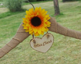 Gift For Daughter In Law, Birthday Sunflower Gift Ideas, Personalized Hanger