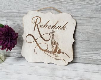 Personalized Nursery Decor, Name Plaque, Baby Shower Gift, Farmhouse Goods Decor