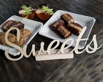 Favor Table Sweets Sign, Custom Size, Wedding Reception,  Bridal Shower, Baby Shower