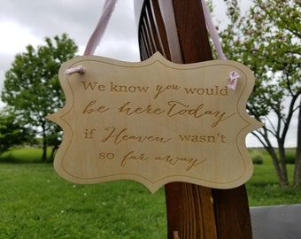 Memorial Plaque, In Memory Of, Wedding Seat Holder,  Custom Sign