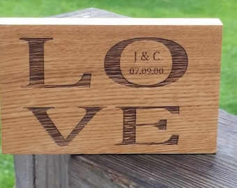 5th Anniversary Gift Ideas, Engraved Wood Plaque, Valentine's Day Girlfriend