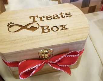 Pet Treat Box, Custom Engraved, Pet  Mom Gift