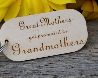 Custom Gifts For Grandma, Nanna Gift, Wooden Engraved Key Chain, Gift Wrapped