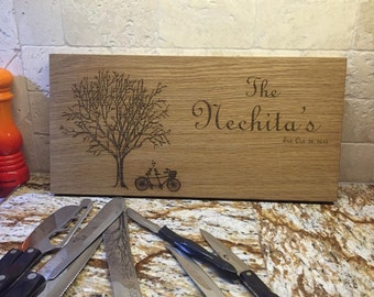 Wedding Gift, Engraved Cutting Board