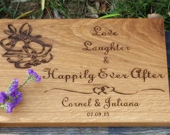 Personalized Serving Board, Bridal Shower, Wedding, 5th Anniversary,  GIFT WRAPPED