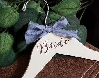 Custom Engraved  Bride Hanger, Bridal Shower Gift