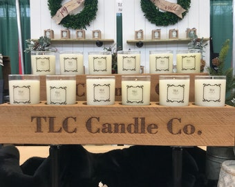 Custom Engraved Wood Candle Holders, Hand Sawn Candle Holders, Rustic Candle Display