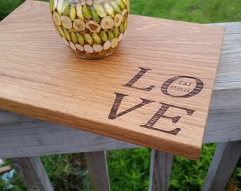 Bridal Shower Gift, Personalized Serving/Cutting Board, GIFT WRAPPED