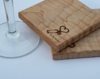 Custom Engraved Doctor Gift, Engraved Wood Coasters