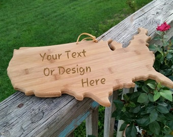 Customized Distance Gift, Cutting Serving Bamboo Board, Engraved Personalized, Grandma Gift,  Gift Wrapped, SHIPS NEXT DAY