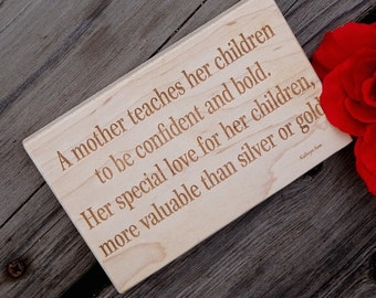 Christmas Gift New Mom, Engraved Wooden Wall Art, Gift For Mother, Engraved Gift For Mom
