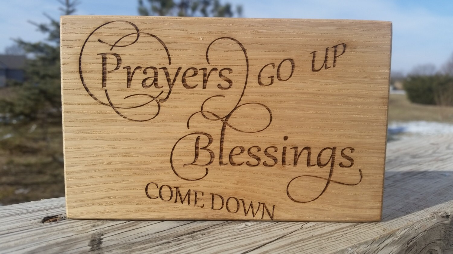 Religious Wall Art Engraved Plaque Inspirational Birthday