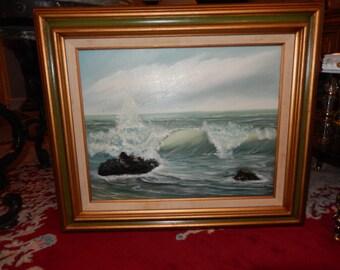 ORIGINAL SEASCAPE OIL Painting by Neville