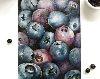 Blueberries - Art Print