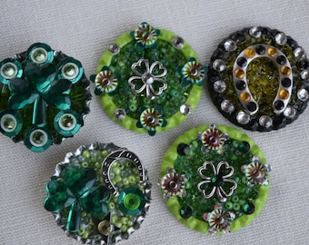 St. Patrick's Day Pins (Brooches) and Refrigerator Magnets