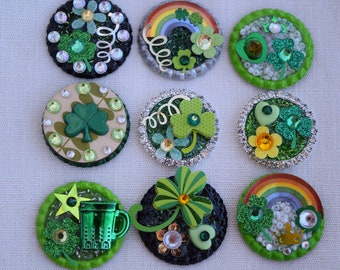 St Patrick's Day Pins (Brooches) or Refrigerator Magnets