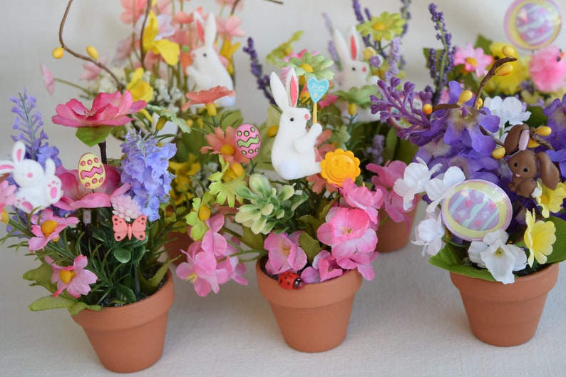 Etsy & Easter Miniature Flower Pots with Miniature Artificial Flowers