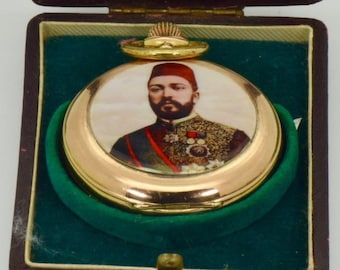 Unique Historic 18k Gold&Enamel watch,made for the Egypt Governor Tewfik Pasha