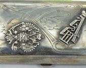 WOW Imperial Russian hand engraved 84 silver snuff box.Awarded by Alexander III