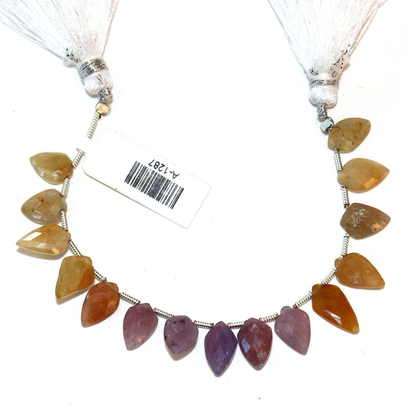 MULTI SAPPHIRE Arrow head Natural Bead Strand AAA Quality Semi Precious Gemstone 4 inches Diy Jewelry Making Necklace Earrings Birthstone