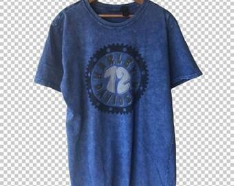 5e5a663f SALE XL Harley Davidson '72 Blue Stone Wash Tie Dye T-Shirt // Women's  Extra Large Harley Davidson Tee