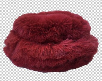 151753126a4c3 1990s Faux Fur Bucket Hat    90s Hot Pink-Red Sassy Shiny Bright Magenta Furry  Hat    Y2K Bratz Aesthetic