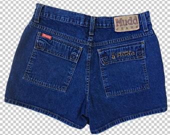 977ef71ecd Sz 11 MUDD Jeans Cargo Shorts // 90s Basic Carpenter Hammer Loop Dungarees  // 1990s Utility Mini Jean Shorts Women's Size 11