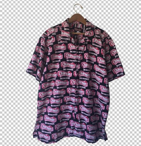 XL Charmin große Squeeze Druck Pop Art Hawaii-Hemd Buttondown | Etsy