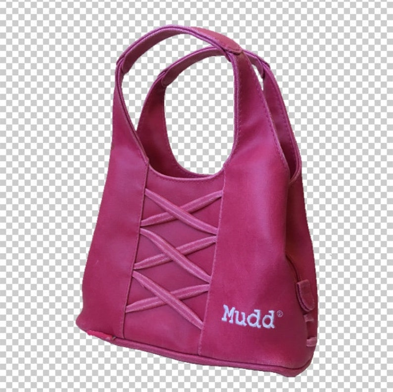 dddc1e0a4368 Y2K Mudd Hot Pink Trashy Mall Rat Handbag    90s Magenta