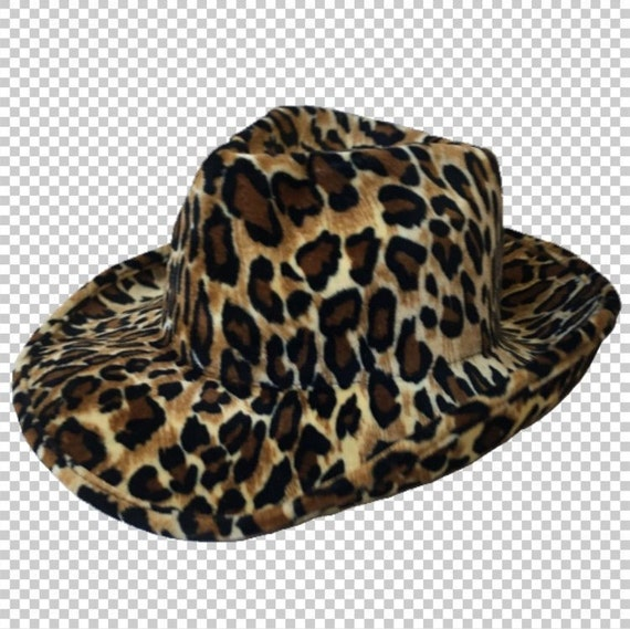 Y2K Shiny Velvet Leopard Print Cowboy Hat    90s Aesthetic  0d08bdc72ee
