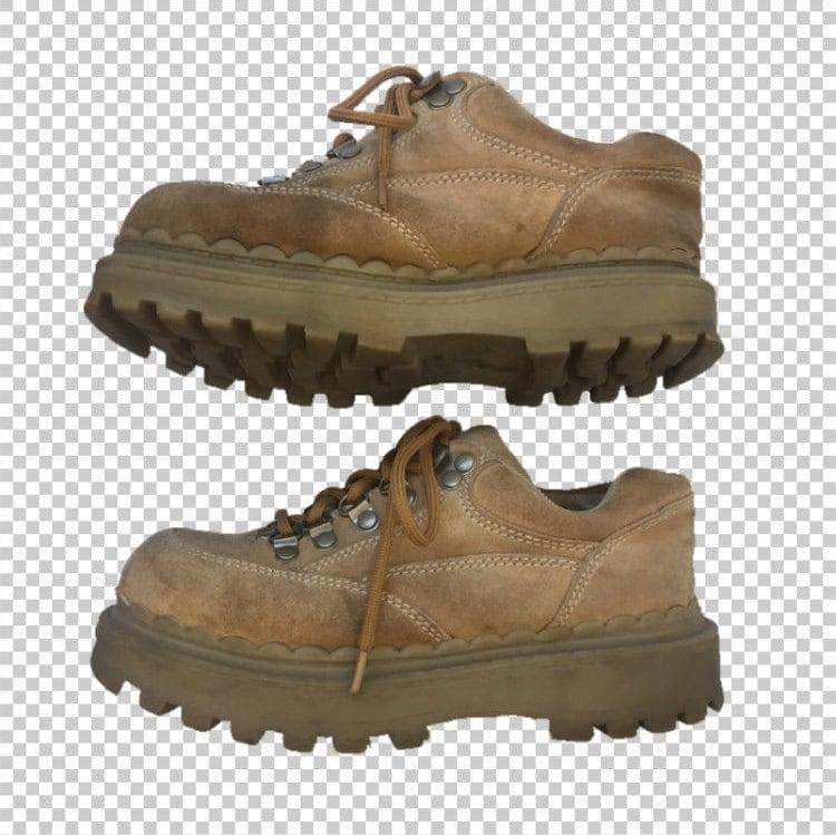 89096420e75c SZ 5 90s Platform Chunky Creeper Sneakers by SODA    1990s Tan