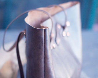 Leather & Copper Tote