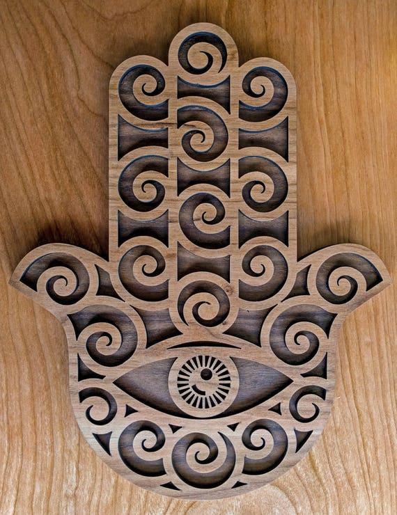 Hamsa Spiral Wall Art Sacred Geometry Laser Cut Conscious Etsy