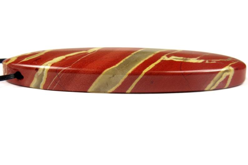 55x20x6.5mm #JL6024 Red River Jasper Oval Pendant