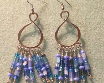 Infinity rainfall earrings