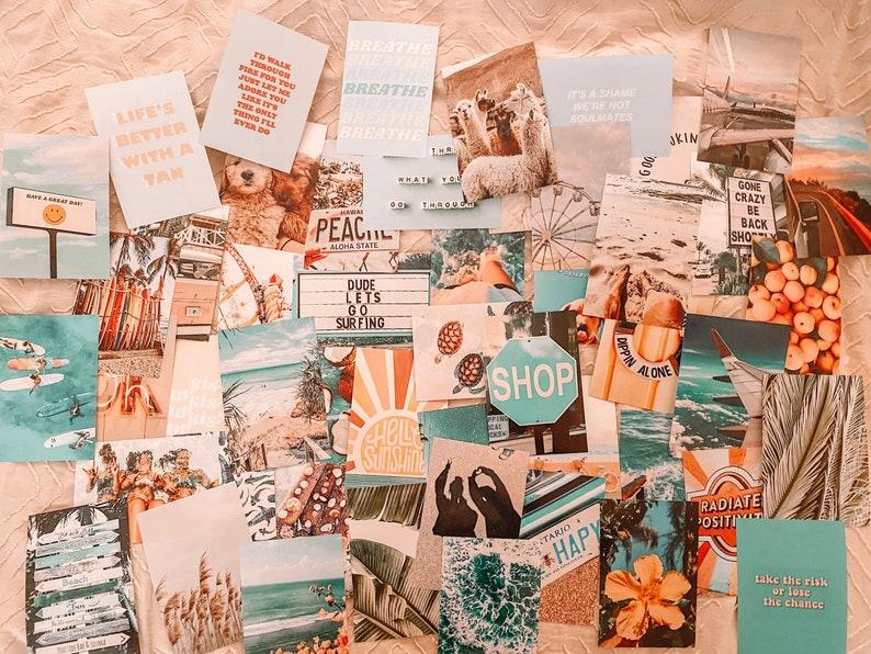 Beach Aesthetic Wall Collage